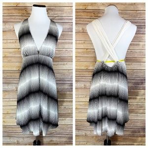 Alice + Olivia Black White Graphic Silk Mini Dress